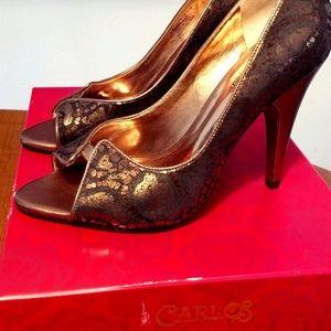 Carlos Santana Copper Pounce 4 1/2 inch heels